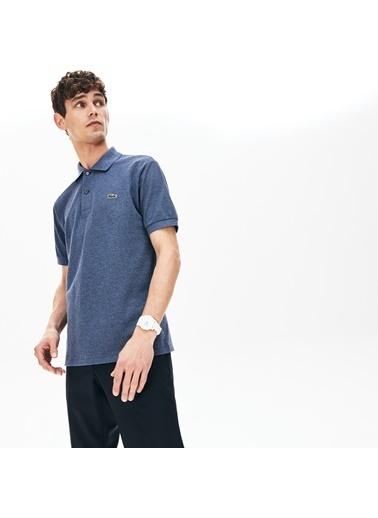 Lacoste Erkek Klasik Fit Tişört L1264.2GF Mavi